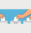 presidential election hand places ballot vector image vector image