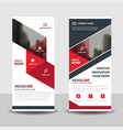 red black triangle business roll up banner flat vector image vector image