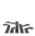 road with white marking three-dimensional in vector image vector image