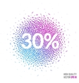 Sale beautiful design element for greeting card vector image