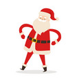 santa claus with arms akimbo isolated on white vector image vector image