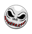scary zombie baseball and sewing mouth vector image vector image