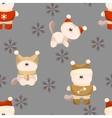 seamless background of cat in clothes vector image vector image