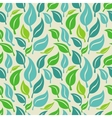 Seamless background with green and blue leaves vector image