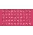 set line icons intelligent building vector image vector image
