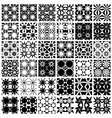Set of 36 seamless patterns vector image