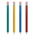 set of pencils with various body color vector image
