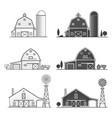 set of thin line american farm icon vector image vector image