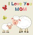 Sheep and lamb vector image vector image