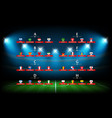 soccer tournament scheme soccer arena illuminated vector image