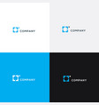 square logo business logo vector image