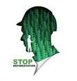 stop deforestation poster banner template paper vector image vector image