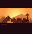stylized landscape egypt at sunset vector image vector image