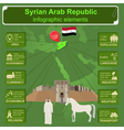 Syria infographics statistical data sights vector image vector image