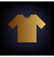 T-shirt sign Golden style icon vector image