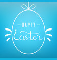 template hanging egg form with lettering vector image vector image