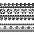 Traditional folk Ukrainian embroidery pattern vector image vector image