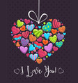 valentines day romantic greeting card love vector image vector image