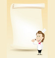 woman chef restaurant poster menu background vector image vector image