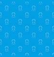 woman operator pattern seamless blue vector image vector image
