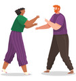 young couple quarreling man and woman shout at vector image vector image