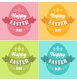 Happy Easter Typographical Background vector image
