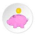 Money box icon flat style vector image