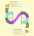Stock and finance infographic design vector image