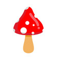 amanita isolated poisonous mushroom with red hat vector image