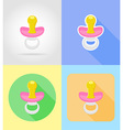 baby flat icons 06 vector image vector image