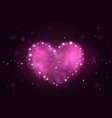 Background with pink 3d realistic hearts