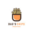 bags chips logo designs modern concept vector image
