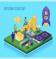 bit coin start up vector image vector image