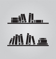 Books on the shaves vector image vector image