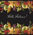 border with autumn yellow leaves vector image vector image