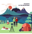 Camping In Mountains vector image vector image