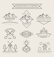 Camping Label and Badge Linear Style vector image vector image