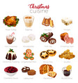 christmas cuisine holiday season vector image vector image
