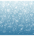 christmas falling snow isolated on blue background vector image vector image