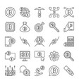 collection blockchain concept icons in vector image