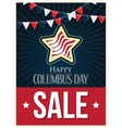 Columbus Day Sale Poster Background vector image
