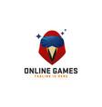 cool bird online games logo vector image vector image