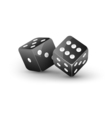 Dice design isolated on white Two dice casino vector image vector image