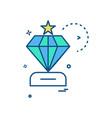 dimond icon design vector image