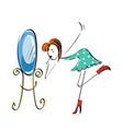 doodle stickman concept makeup near vector image