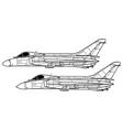 douglas f4d skyray vector image vector image