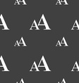 enlarge font aa icon sign seamless pattern