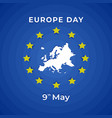 europe day celebration 9th may european map vector image vector image