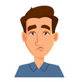 face expression of a man - tired male emotions vector image vector image