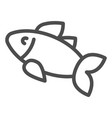 fish line icon food isolated vector image vector image